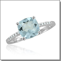 Aquamarine Ring at My Love Wedding Ring