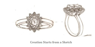 jewelry making sketch at my love wedding ring