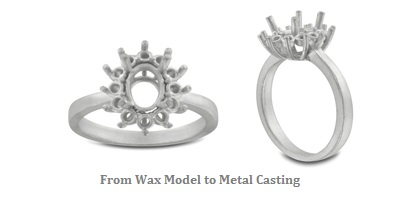 Jewelry Making Metal Casting at my love wedding ring