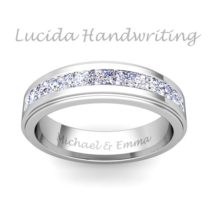 Free ring engraving engravable rings my love wedding ring for Wedding ring engraving