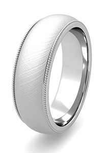 Mixed Brushed Finish Wedding Bands at My Love Wedding Ring