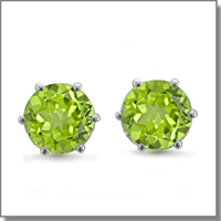 peridot stud earrings at My Love Wedding Ring