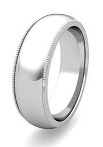 Polished Finish Wedding Bands at My Love Wedding Ring