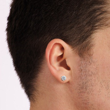 on the total carat weight below to view earring sizes on mans ear