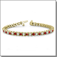 diamond and ruby bracelet at My Love Wedding Ring