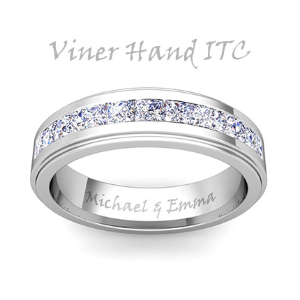 inside engraving font options - Wedding Ring Engraving Ideas