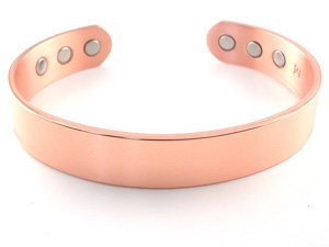 Wide Copper Magnetic Bracelet